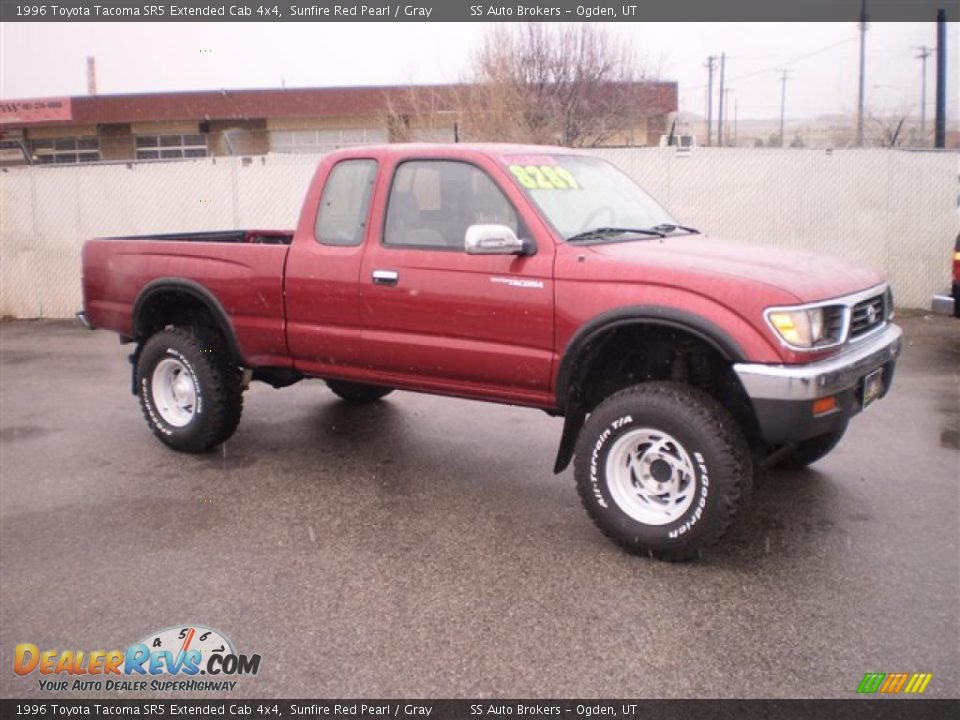 1996 toyota tacoma sr5 extended cab 4x4 sunfire red pearl gray photo 2. Black Bedroom Furniture Sets. Home Design Ideas