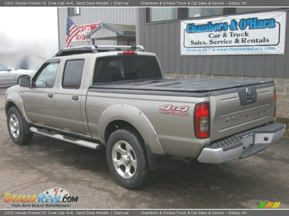 2002 nissan frontier sc crew cab 4x4 sand dune metallic charcoal photo 11 dealerrevs com