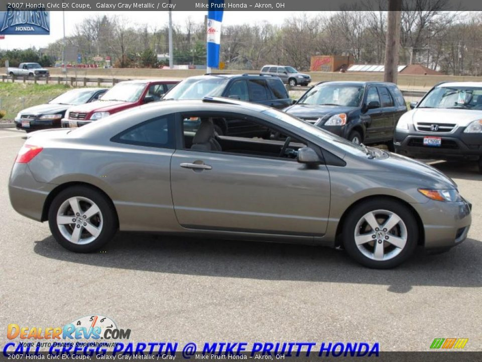 2007 honda civic ex coupe galaxy gray metallic gray photo 6. Black Bedroom Furniture Sets. Home Design Ideas