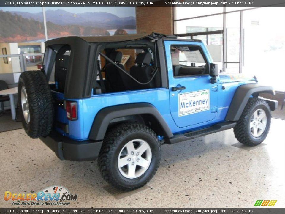 2010 Jeep Wrangler Sport Islander Edition 4x4 Surf Blue Pearl Dark Slate Gray Blue Photo 4
