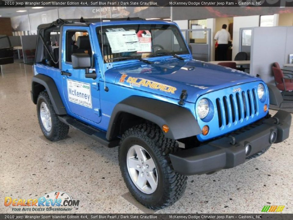2010 jeep wrangler sport islander edition 4x4 surf blue. Black Bedroom Furniture Sets. Home Design Ideas
