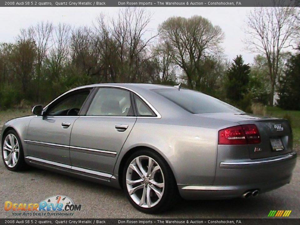 2008 Audi S8 5 2 Quattro Quartz Grey Metallic Black