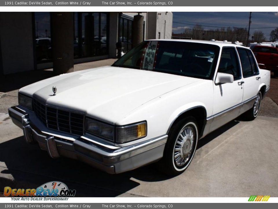 1991 cadillac deville sedan cotillion white gray photo. Cars Review. Best American Auto & Cars Review