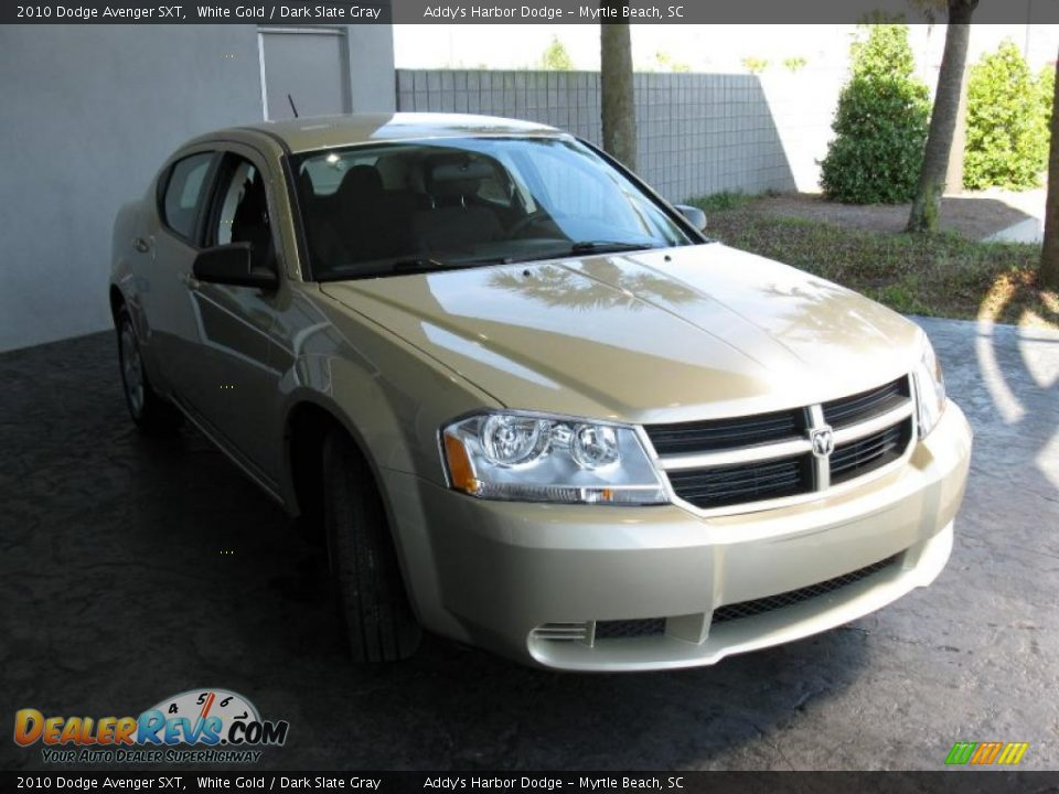 2010 dodge avenger sxt white gold dark slate gray photo. Black Bedroom Furniture Sets. Home Design Ideas