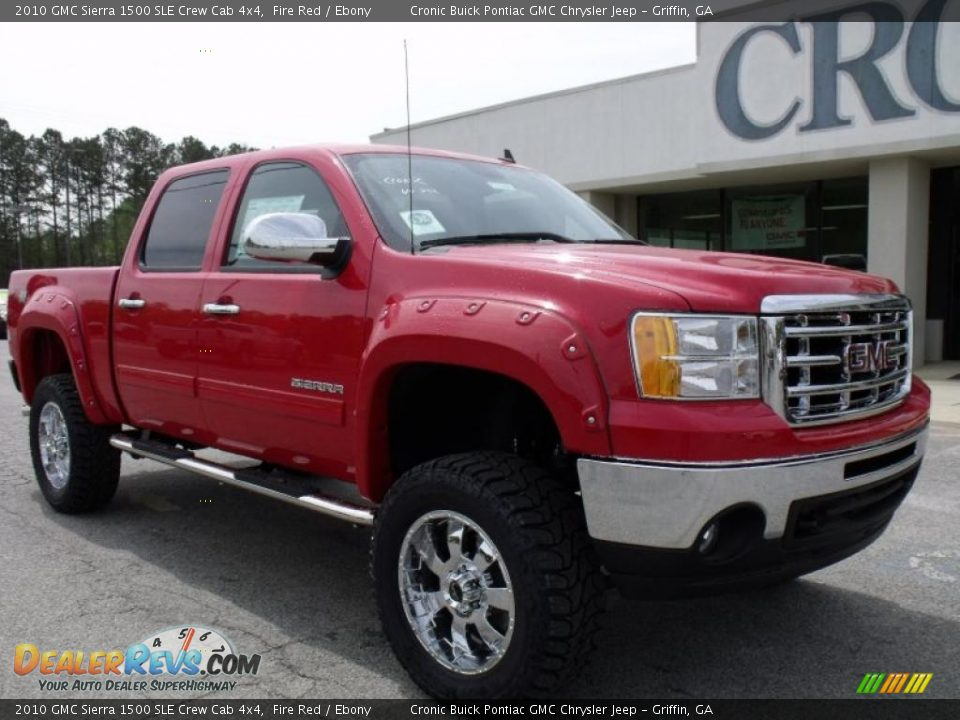 2010 gmc sierra 1500 sle crew cab 4x4 fire red ebony photo 2. Black Bedroom Furniture Sets. Home Design Ideas