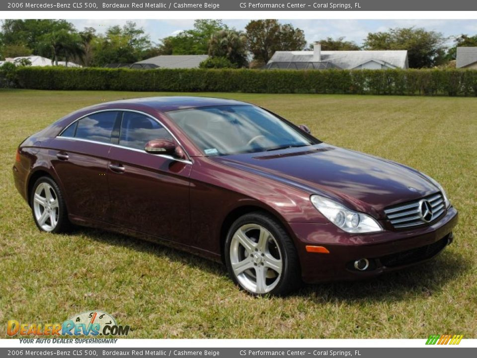 2006 Mercedes Benz Cls 500 Bordeaux Red Metallic