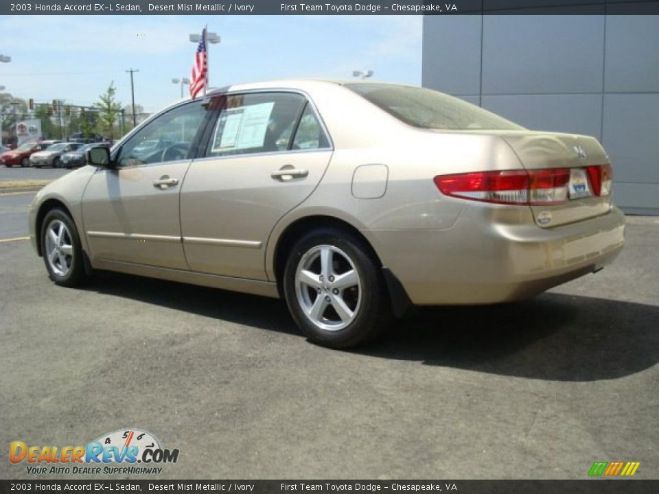 2003 honda accord ex l sedan desert mist metallic ivory photo 2. Black Bedroom Furniture Sets. Home Design Ideas