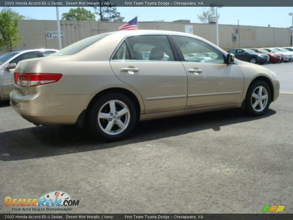 2003 honda accord ex l sedan desert mist metallic ivory photo 3. Black Bedroom Furniture Sets. Home Design Ideas