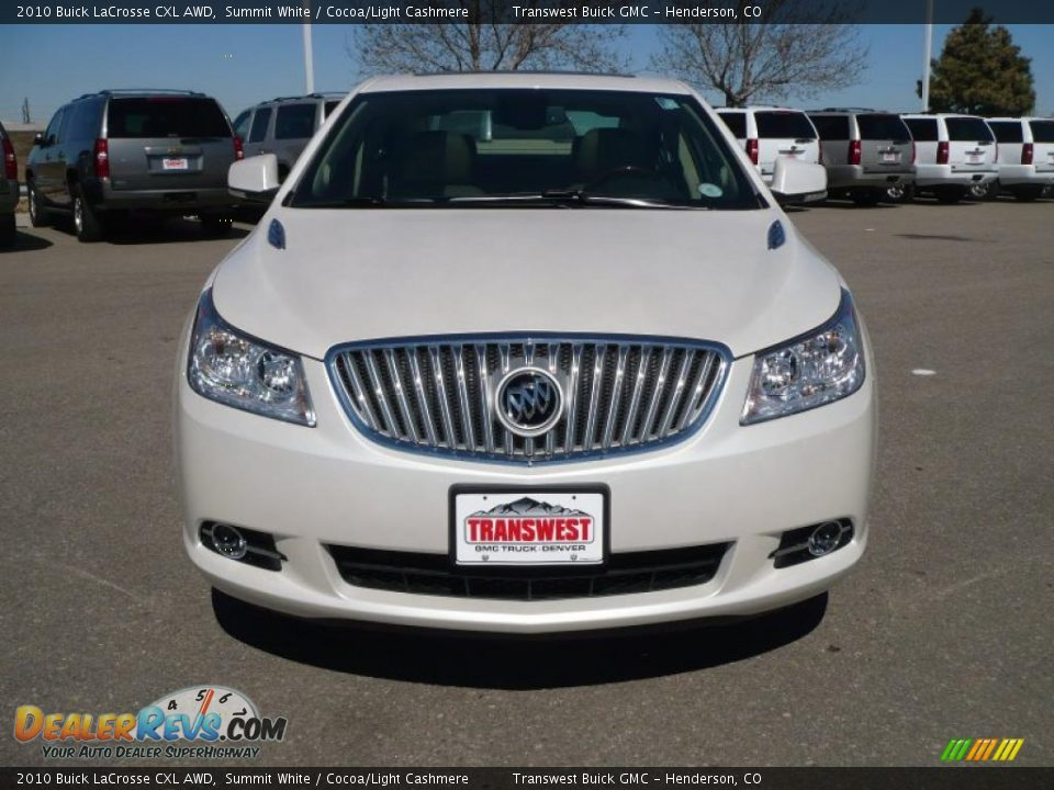 2010 Buick LaCrosse CXL AWD Summit White / Cocoa/Light Cashmere Photo ...