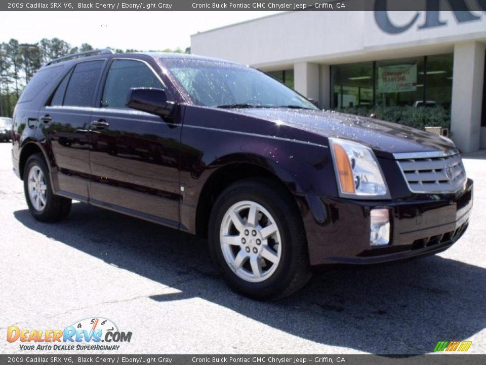 2009 Cadillac Srx V6 Black Cherry Ebony Light Gray Photo