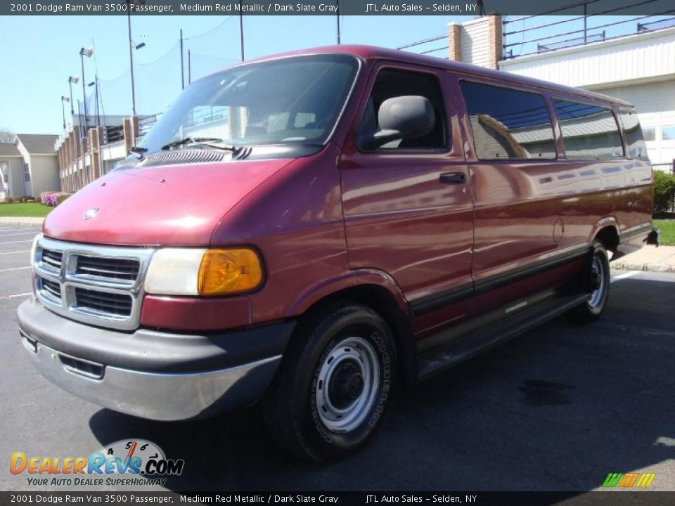 2001 dodge ram van 3500 passenger medium red metallic. Black Bedroom Furniture Sets. Home Design Ideas