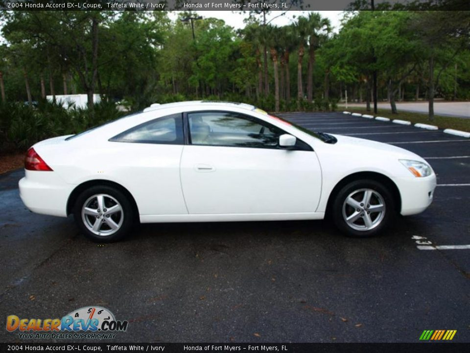 2004 honda accord ex l coupe taffeta white ivory photo. Black Bedroom Furniture Sets. Home Design Ideas