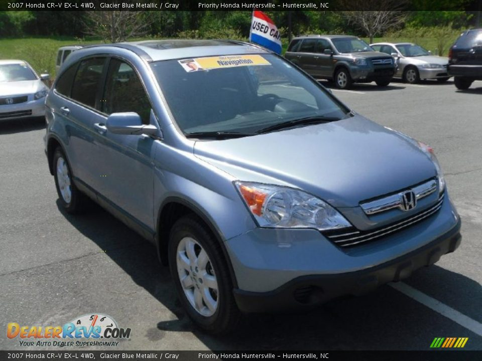 2007 honda cr v ex l 4wd glacier blue metallic gray. Black Bedroom Furniture Sets. Home Design Ideas