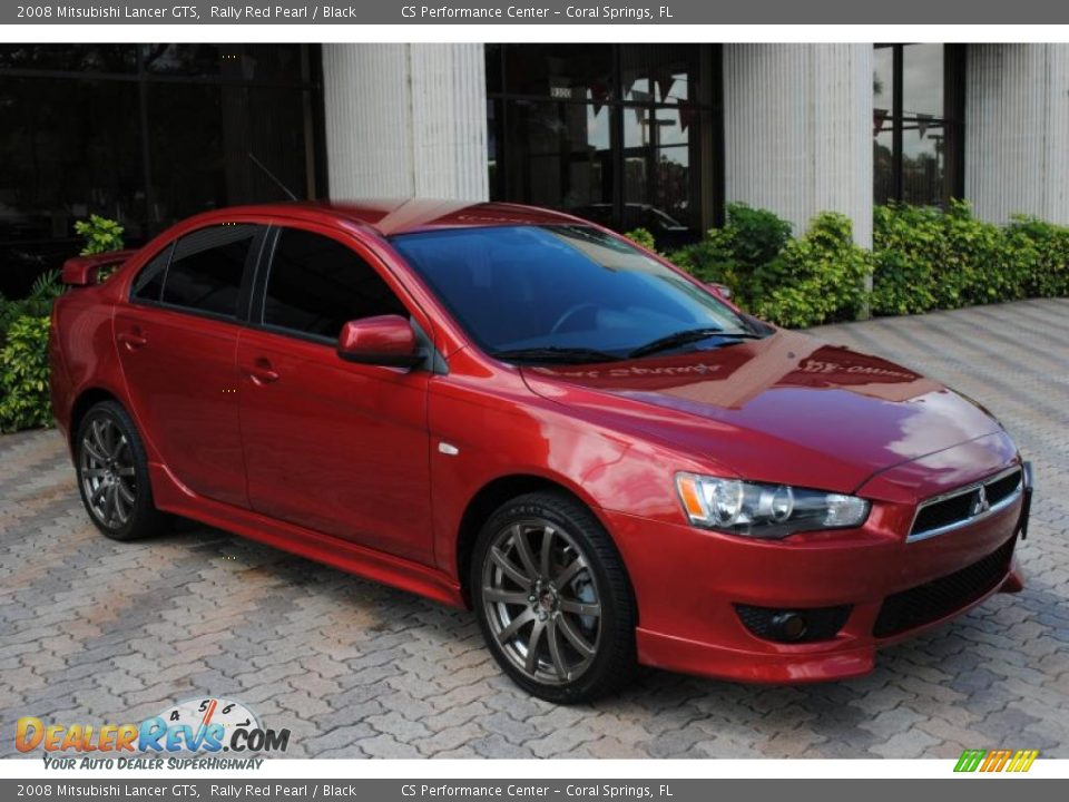 2008 mitsubishi lancer gts rally red pearl black photo. Black Bedroom Furniture Sets. Home Design Ideas