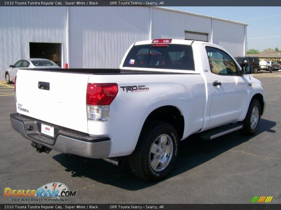 2010 Toyota Tundra Regular Cab Super White Black Photo