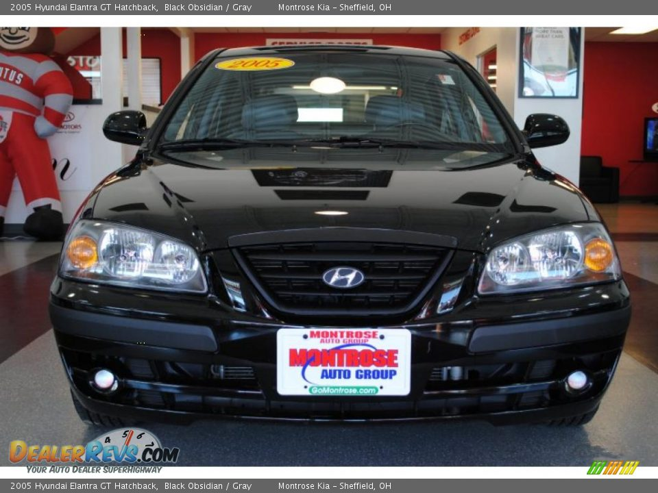 2005 hyundai elantra gt hatchback black obsidian gray. Black Bedroom Furniture Sets. Home Design Ideas