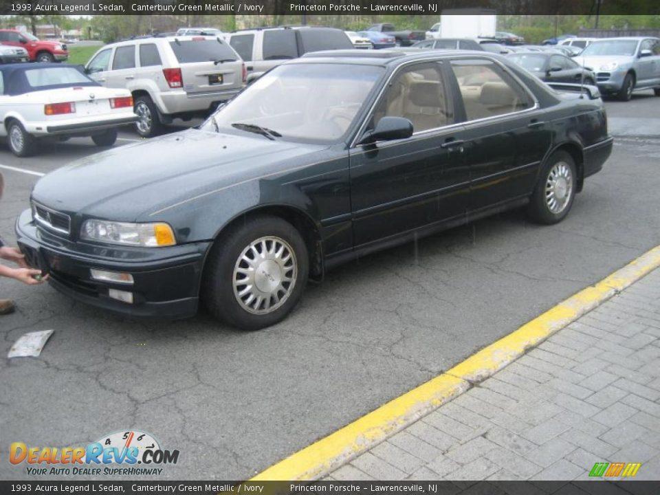 1993 acura legend l sedan canterbury green metallic. Black Bedroom Furniture Sets. Home Design Ideas