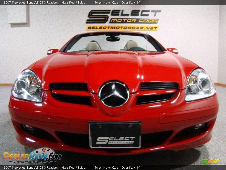 2007 mercedes benz slk 280 roadster mars red beige photo for 2007 mercedes benz slk