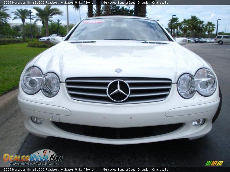 2006 mercedes benz sl 500 roadster alabaster white stone photo 3. Black Bedroom Furniture Sets. Home Design Ideas