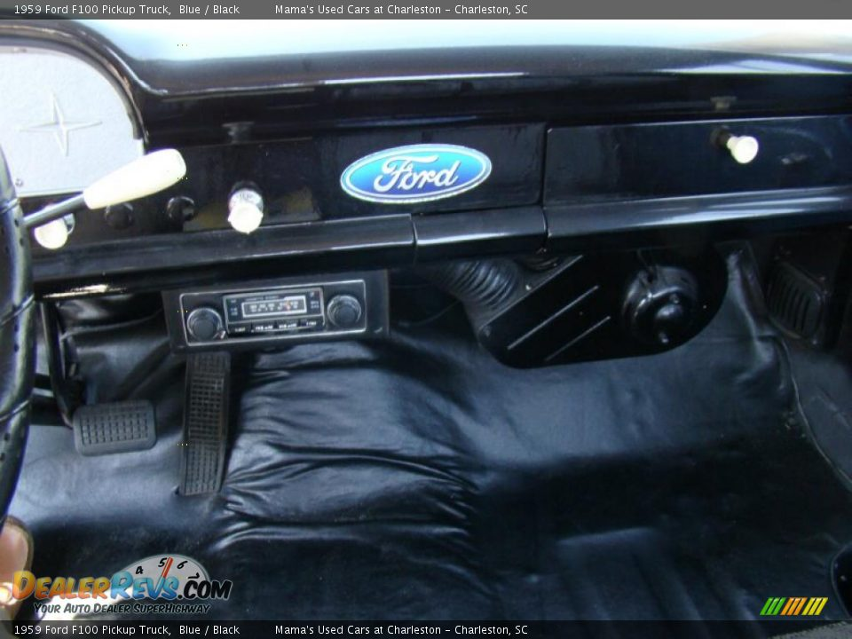1959 Ford F100 Pickup Truck Blue / Black Photo #17