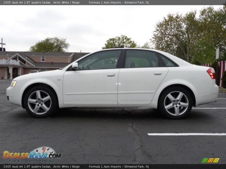 2005 Audi A4 1 8t Quattro Sedan Arctic White Beige Photo