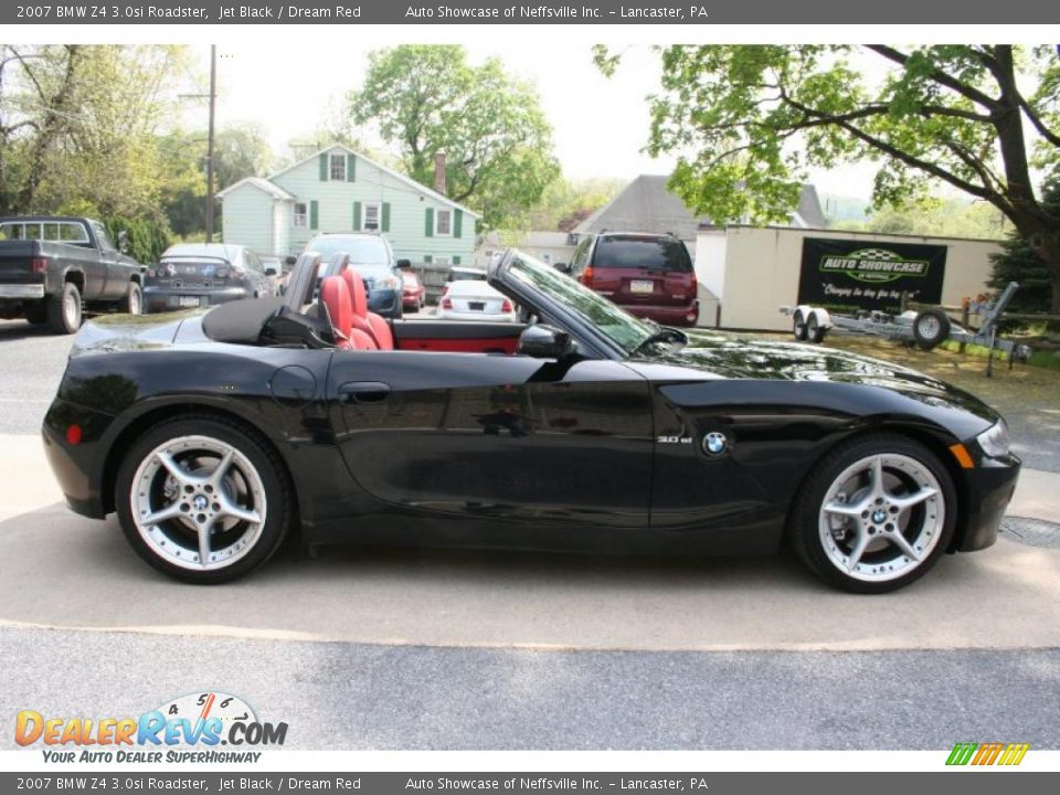 2007 Bmw Z4 3 0si Roadster Jet Black Dream Red Photo 8