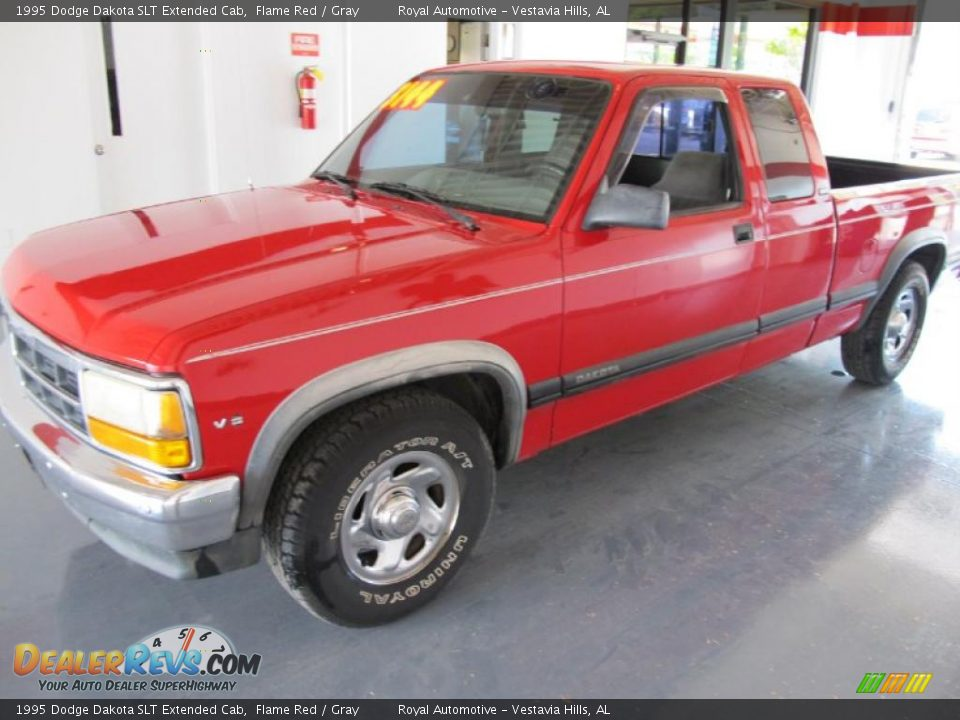 1995 Dodge Dakota Slt Extended Cab Flame Red Gray Photo