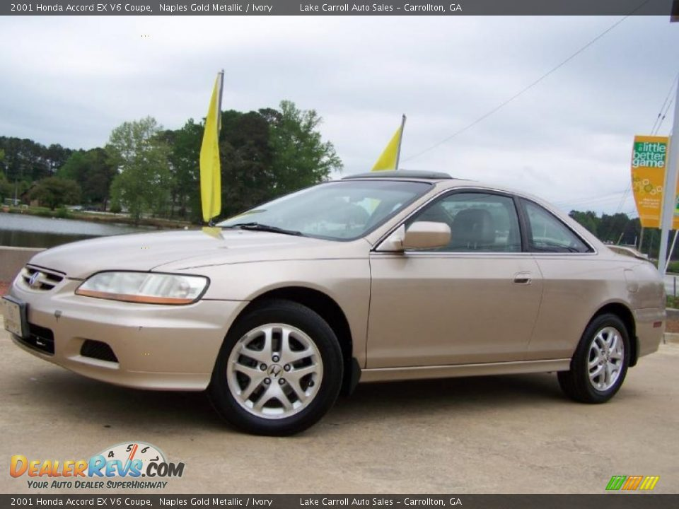 2001 honda accord ex v6 coupe naples gold metallic ivory photo 1. Black Bedroom Furniture Sets. Home Design Ideas
