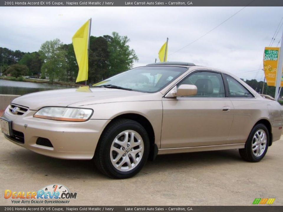 2001 honda accord ex v6 coupe naples gold metallic ivory photo 3. Black Bedroom Furniture Sets. Home Design Ideas