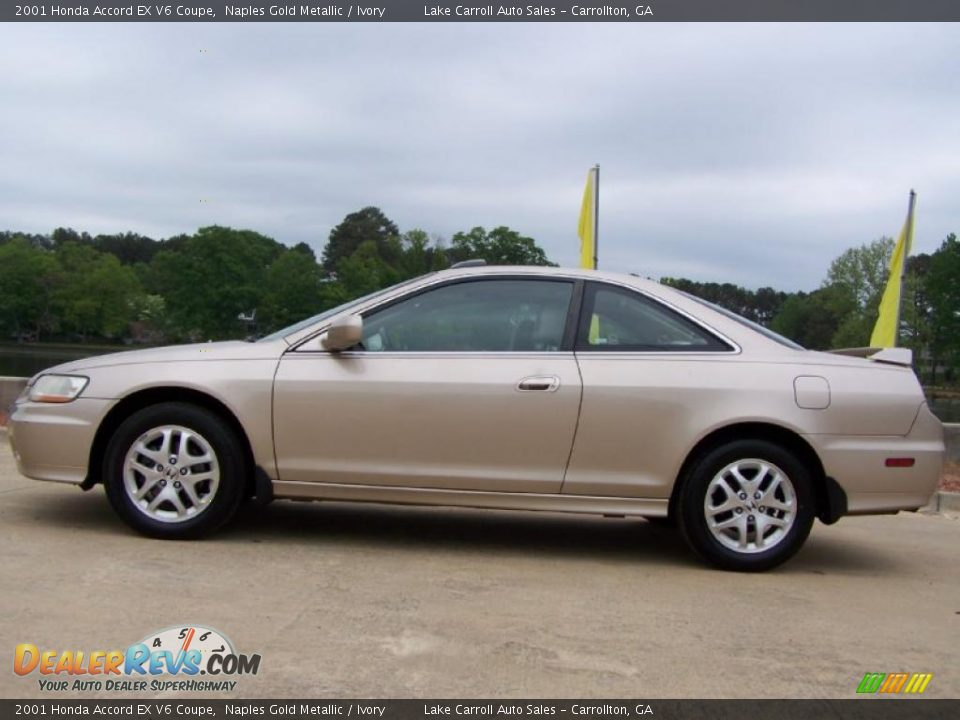 2001 Honda Accord Ex V6 Coupe Naples Gold Metallic Ivory