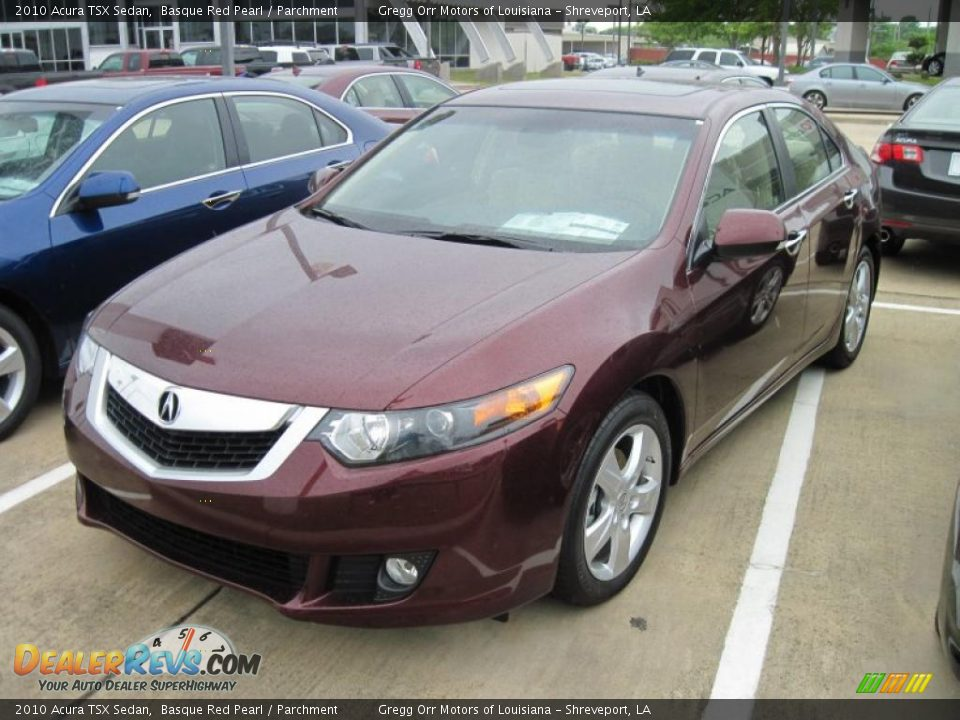 2010 acura tsx sedan basque red pearl parchment photo 1. Black Bedroom Furniture Sets. Home Design Ideas
