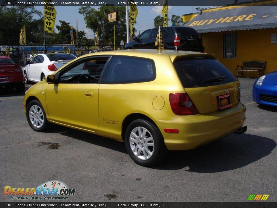 2002 honda civic si hatchback yellow pearl metallic for 2002 honda civic hatchback