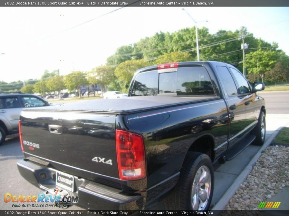 2002 dodge ram 1500 sport quad cab 4x4 black dark slate gray photo 6. Black Bedroom Furniture Sets. Home Design Ideas