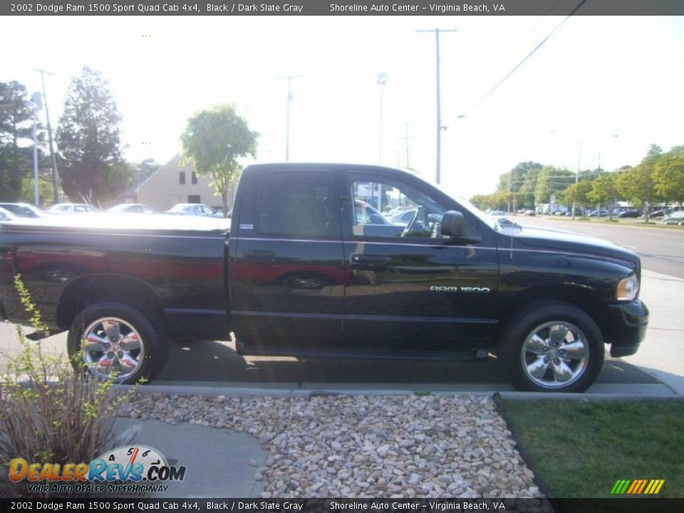 2002 dodge ram 1500 sport quad cab 4x4 black dark slate gray photo 7. Black Bedroom Furniture Sets. Home Design Ideas
