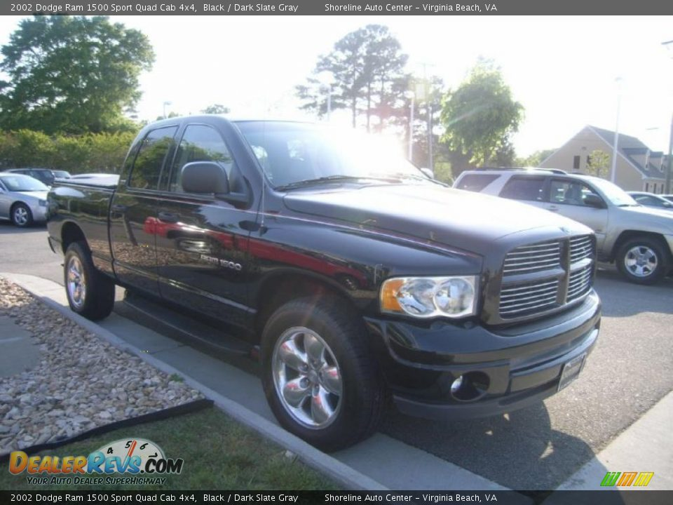 2002 dodge ram 1500 sport quad cab 4x4 black dark slate gray photo 8. Black Bedroom Furniture Sets. Home Design Ideas