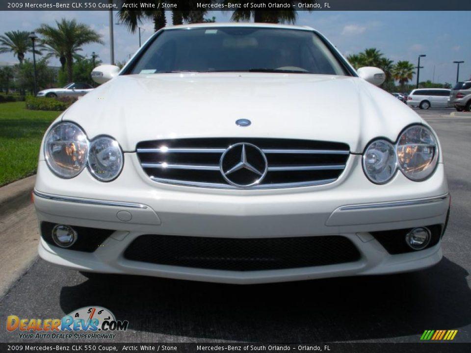 2009 mercedes benz clk 550 coupe arctic white stone for 2009 mercedes benz clk550