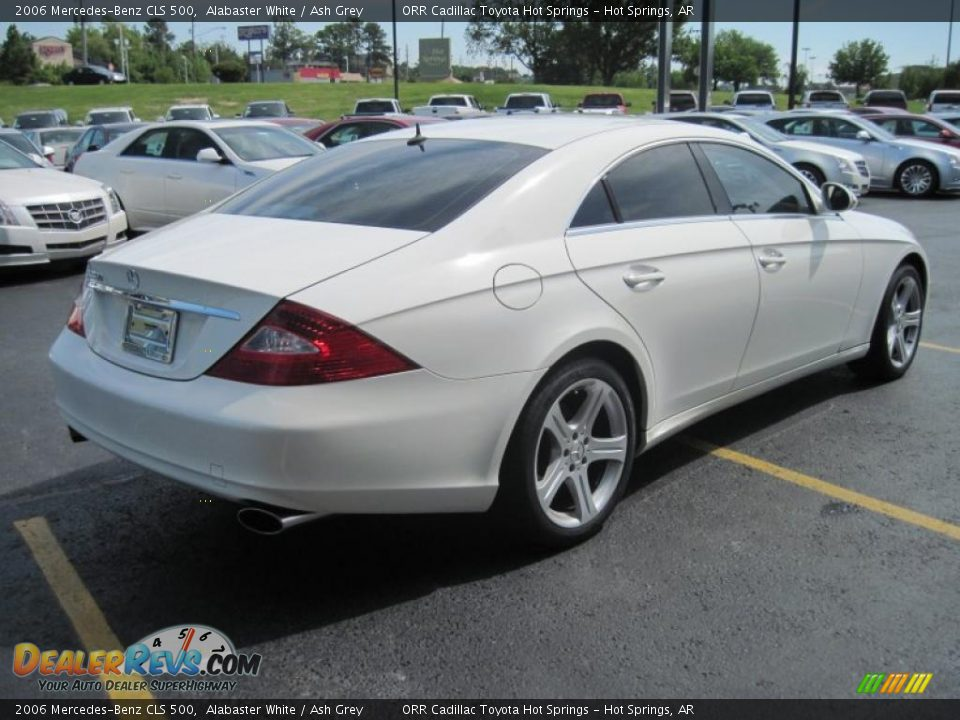 2006 mercedes benz cls 500 alabaster white ash grey