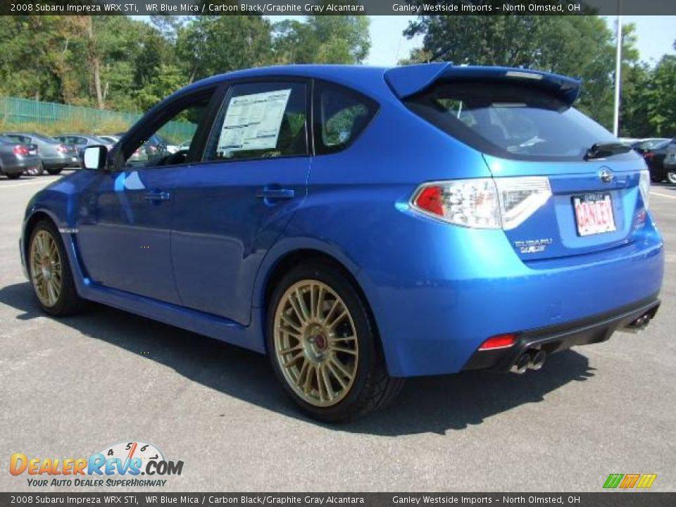 2008 Subaru Impreza Wrx Sti Wr Blue Mica Carbon Black