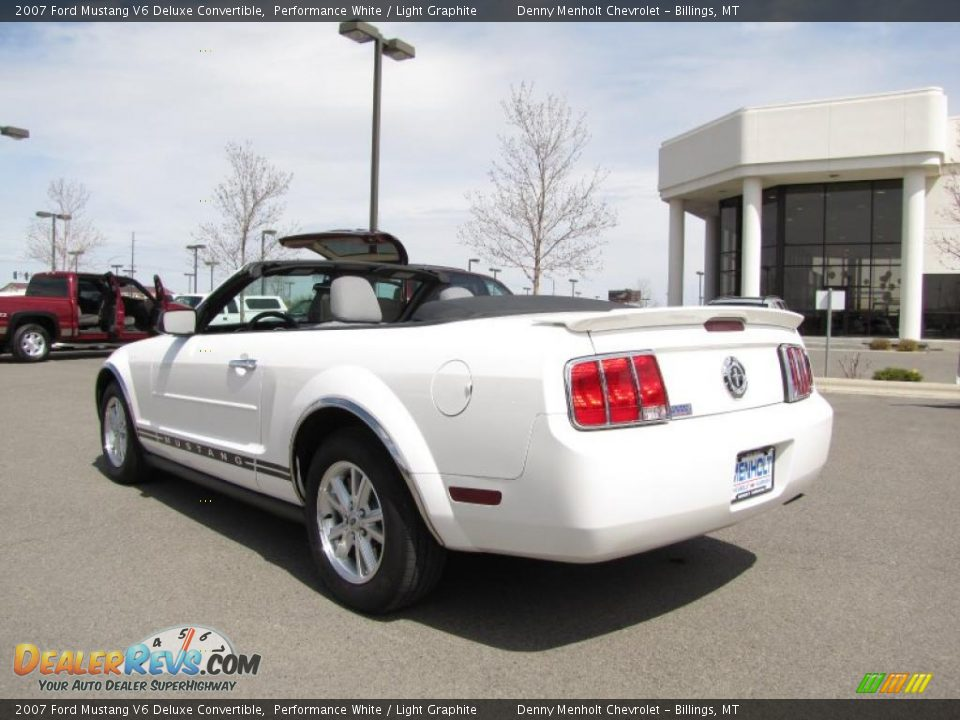 2007 ford mustang v6 deluxe convertible performance white light graphite photo 3. Black Bedroom Furniture Sets. Home Design Ideas