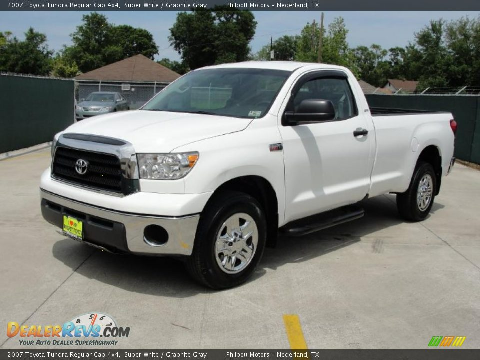 2007 toyota tundra regular cab 4x4 super white graphite gray photo 7. Black Bedroom Furniture Sets. Home Design Ideas