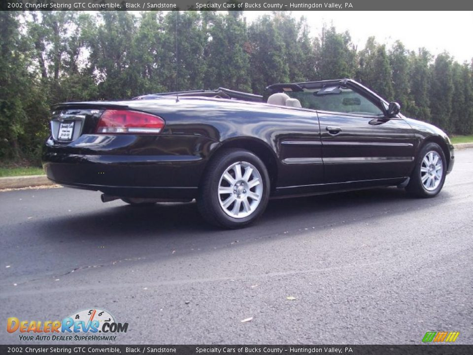 2002 chrysler sebring gtc convertible black sandstone photo 9. Cars Review. Best American Auto & Cars Review