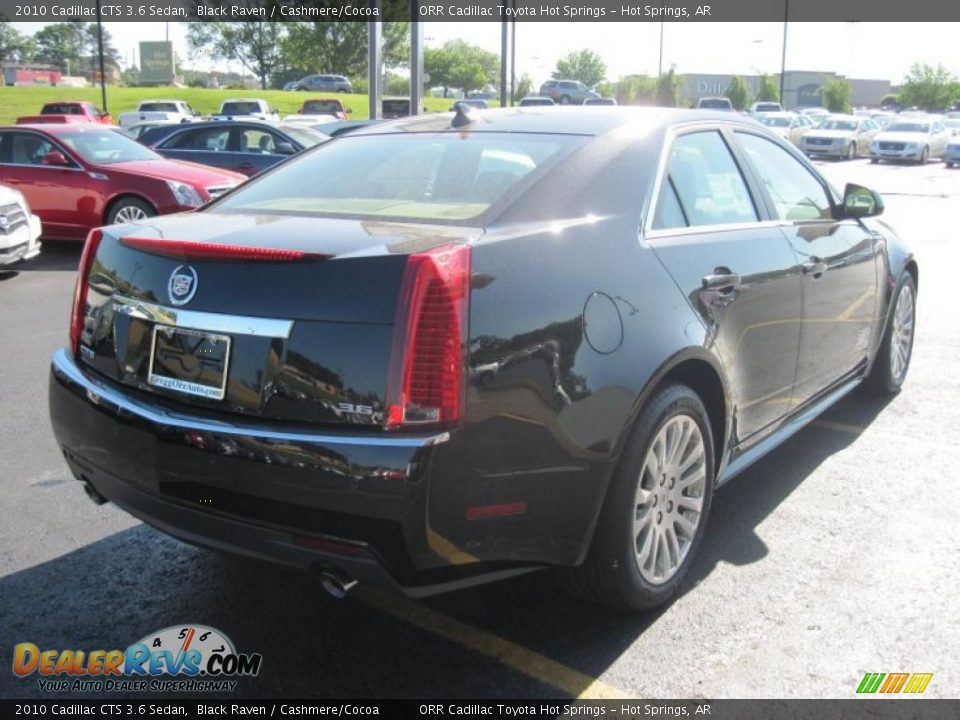 2010 cadillac cts 3 6 sedan black raven cashmere cocoa. Black Bedroom Furniture Sets. Home Design Ideas