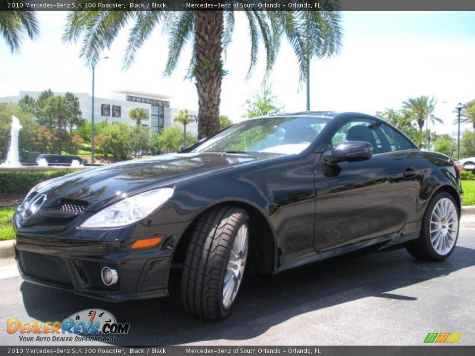 2010 mercedes benz slk 300 roadster black black photo 2 for Mercedes benz slk 300