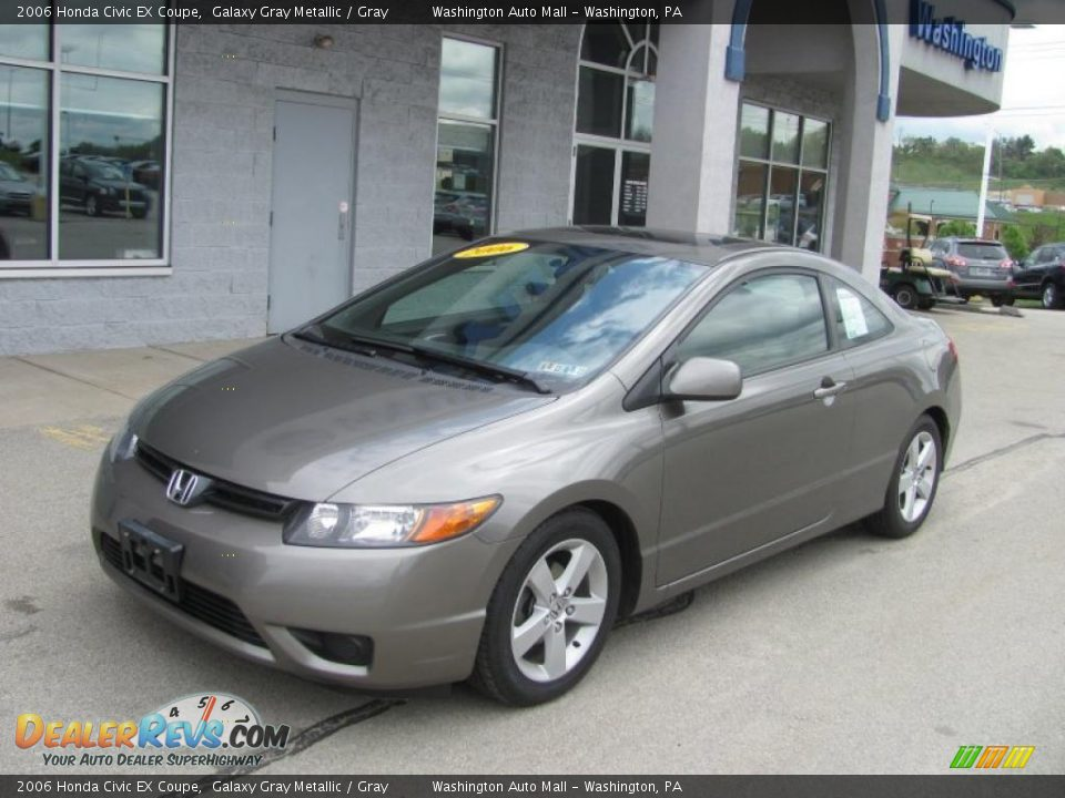 2006 honda civic ex coupe galaxy gray metallic gray photo 2. Black Bedroom Furniture Sets. Home Design Ideas
