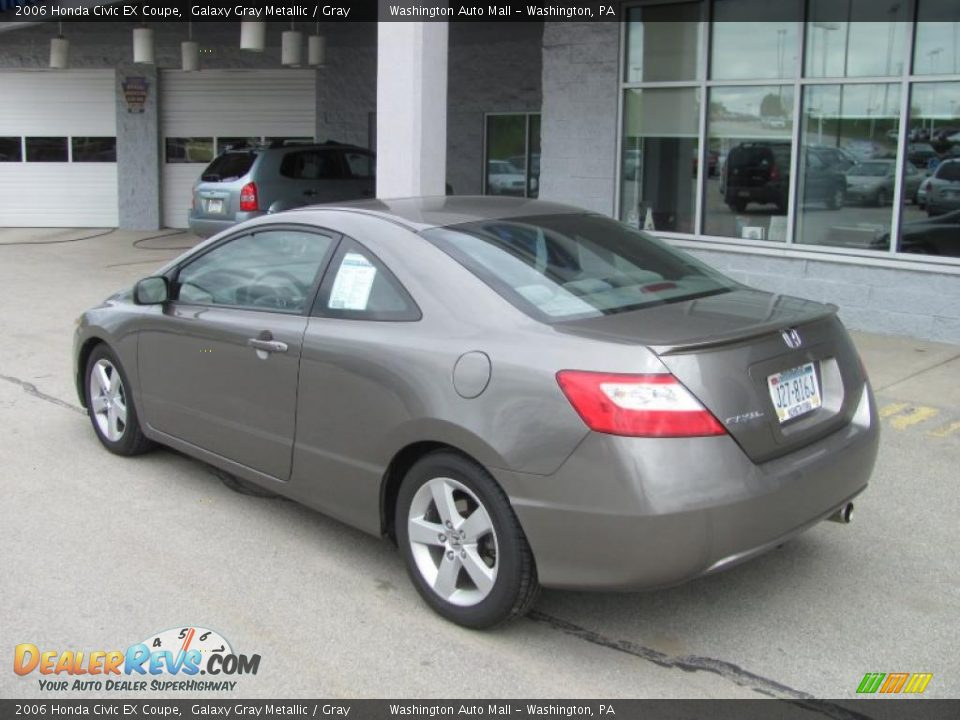 2006 honda civic ex coupe galaxy gray metallic gray photo 5. Black Bedroom Furniture Sets. Home Design Ideas