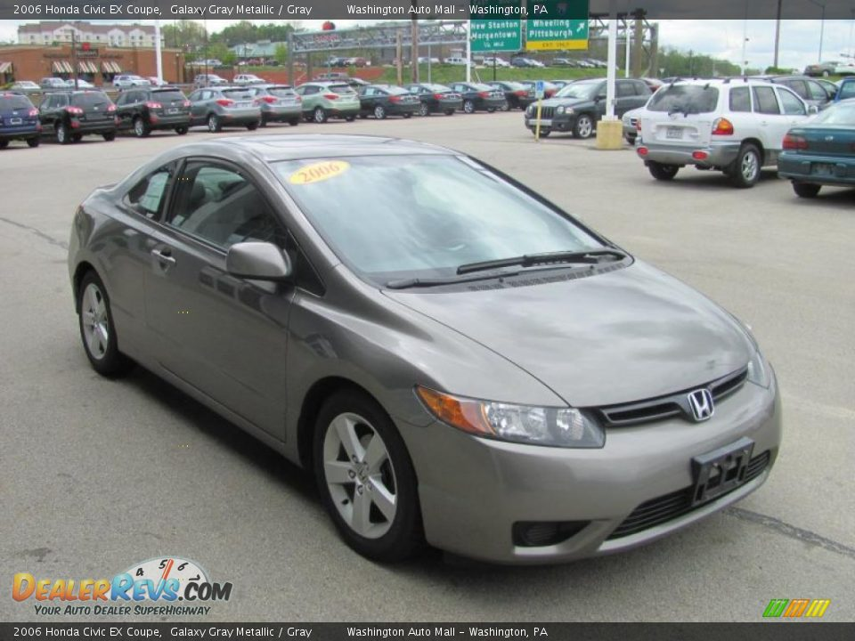 2006 honda civic ex coupe galaxy gray metallic gray photo 8. Black Bedroom Furniture Sets. Home Design Ideas