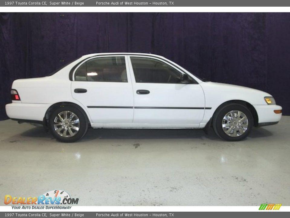 1997 toyota corolla ce super white beige photo 4