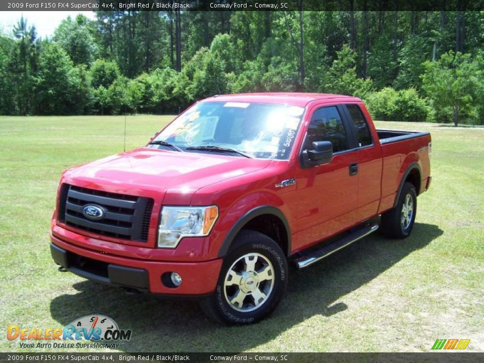 2009 ford f150 fx4 supercab 4x4 bright red black black. Black Bedroom Furniture Sets. Home Design Ideas
