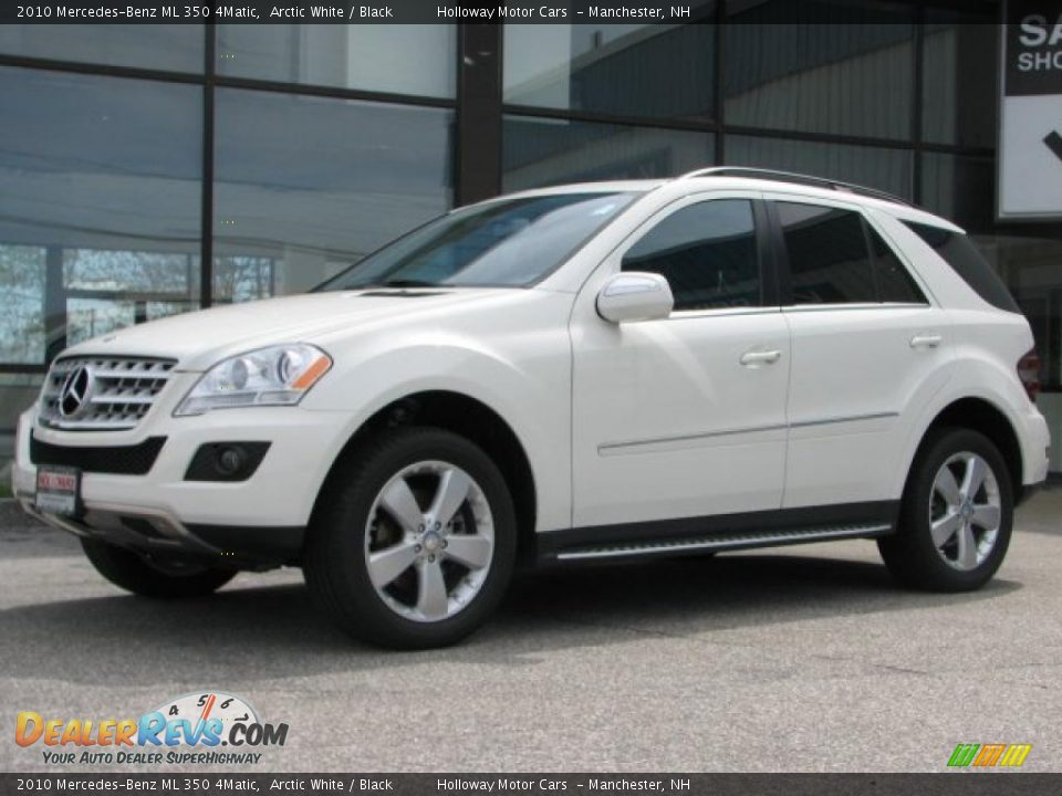 2010 mercedes benz ml 350 4matic arctic white black for Mercedes benz ml350 4matic 2010