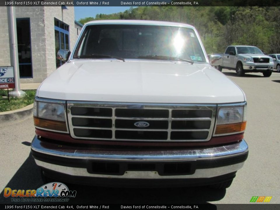 1996 ford f150 xlt extended cab 4x4 oxford white red photo 3. Black Bedroom Furniture Sets. Home Design Ideas